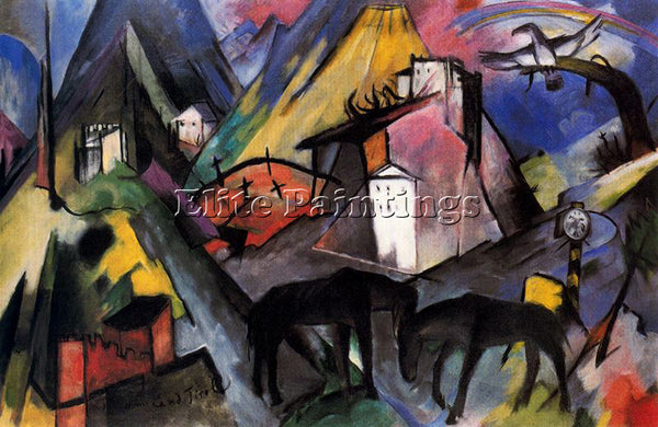 FRANZ MARC FMARC63 ARTIST PAINTING REPRODUCTION HANDMADE CANVAS REPRO WALL DECO
