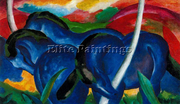 FRANZ MARC FMARC64 ARTIST PAINTING REPRODUCTION HANDMADE CANVAS REPRO WALL DECO