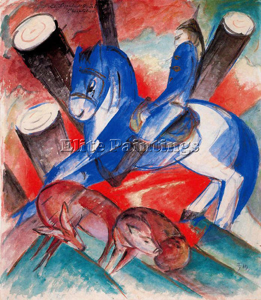 FRANZ MARC FMARC67 ARTIST PAINTING REPRODUCTION HANDMADE CANVAS REPRO WALL DECO