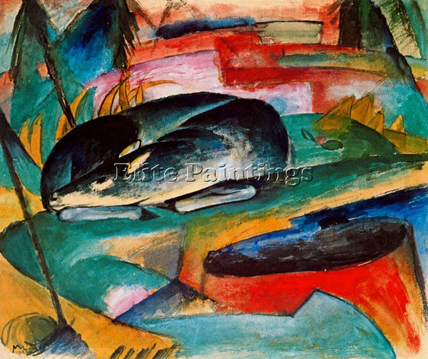 FRANZ MARC FMARC68 ARTIST PAINTING REPRODUCTION HANDMADE CANVAS REPRO WALL DECO