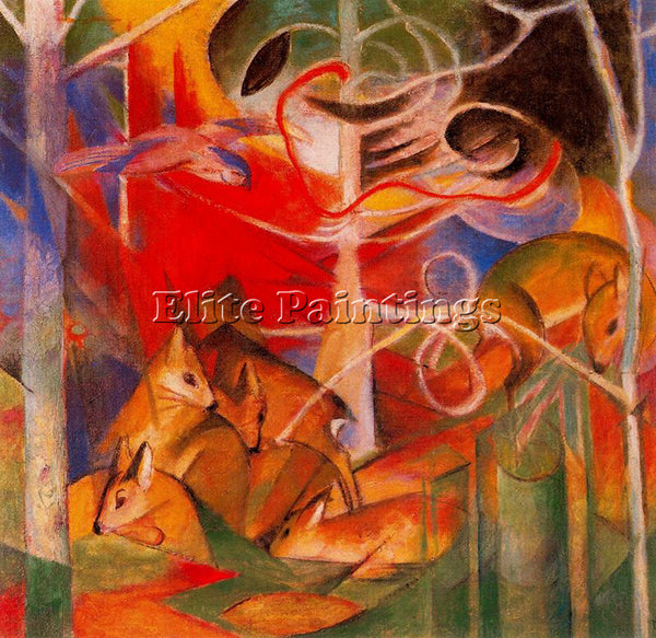 FRANZ MARC FMARC69 ARTIST PAINTING REPRODUCTION HANDMADE CANVAS REPRO WALL DECO