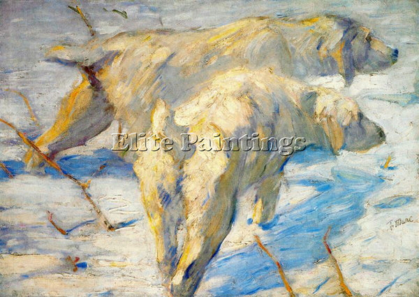FRANZ MARC FMARC70 ARTIST PAINTING REPRODUCTION HANDMADE CANVAS REPRO WALL DECO
