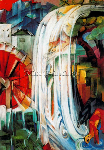FRANZ MARC FMARC71 ARTIST PAINTING REPRODUCTION HANDMADE CANVAS REPRO WALL DECO