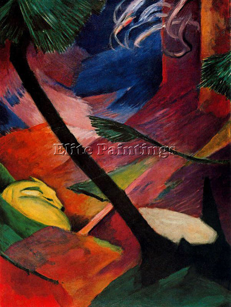 FRANZ MARC FMARC72 ARTIST PAINTING REPRODUCTION HANDMADE CANVAS REPRO WALL DECO
