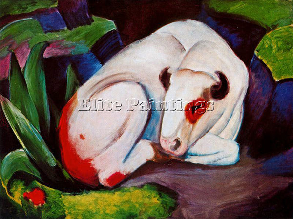 FRANZ MARC FMARC73 ARTIST PAINTING REPRODUCTION HANDMADE CANVAS REPRO WALL DECO