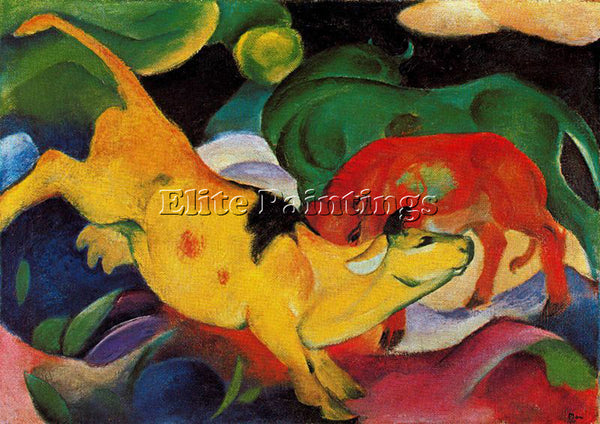 FRANZ MARC FMARC74 ARTIST PAINTING REPRODUCTION HANDMADE CANVAS REPRO WALL DECO