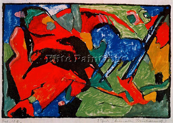 FRANZ MARC FMARC75 ARTIST PAINTING REPRODUCTION HANDMADE CANVAS REPRO WALL DECO