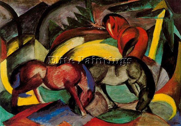 FRANZ MARC FMARC76 ARTIST PAINTING REPRODUCTION HANDMADE CANVAS REPRO WALL DECO