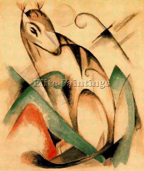 FRANZ MARC FMARC79 ARTIST PAINTING REPRODUCTION HANDMADE CANVAS REPRO WALL DECO