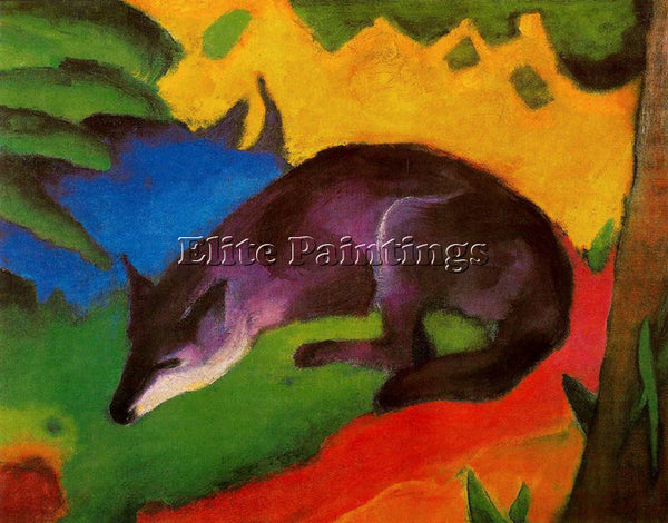 FRANZ MARC FMARC81 ARTIST PAINTING REPRODUCTION HANDMADE CANVAS REPRO WALL DECO
