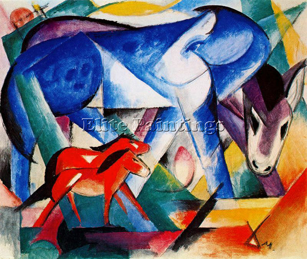 FRANZ MARC FMARC82 ARTIST PAINTING REPRODUCTION HANDMADE CANVAS REPRO WALL DECO