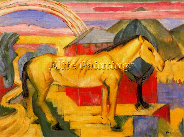 FRANZ MARC FMARC83 ARTIST PAINTING REPRODUCTION HANDMADE CANVAS REPRO WALL DECO