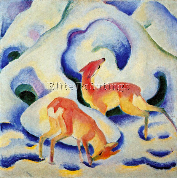 FRANZ MARC FMARC84 ARTIST PAINTING REPRODUCTION HANDMADE CANVAS REPRO WALL DECO