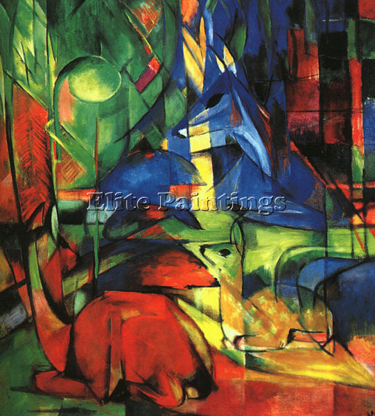FRANZ MARC FMARC43 ARTIST PAINTING REPRODUCTION HANDMADE CANVAS REPRO WALL DECO