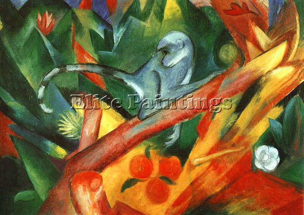 FRANZ MARC FMARC45 ARTIST PAINTING REPRODUCTION HANDMADE CANVAS REPRO WALL DECO