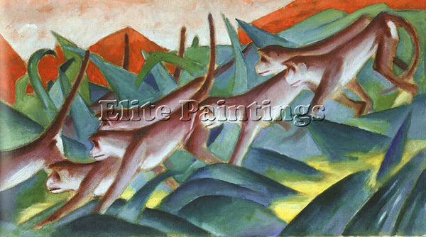 FRANZ MARC FMARC46 ARTIST PAINTING REPRODUCTION HANDMADE CANVAS REPRO WALL DECO