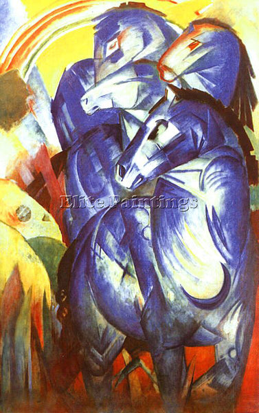 FRANZ MARC FMARC47 ARTIST PAINTING REPRODUCTION HANDMADE CANVAS REPRO WALL DECO