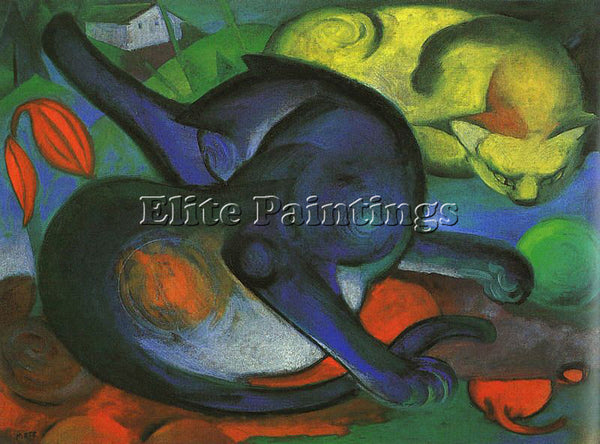 FRANZ MARC FMARC48 ARTIST PAINTING REPRODUCTION HANDMADE CANVAS REPRO WALL DECO