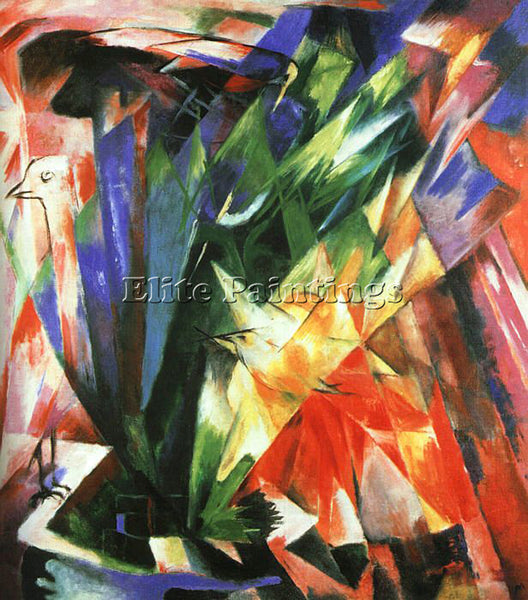 FRANZ MARC FMARC50 ARTIST PAINTING REPRODUCTION HANDMADE CANVAS REPRO WALL DECO