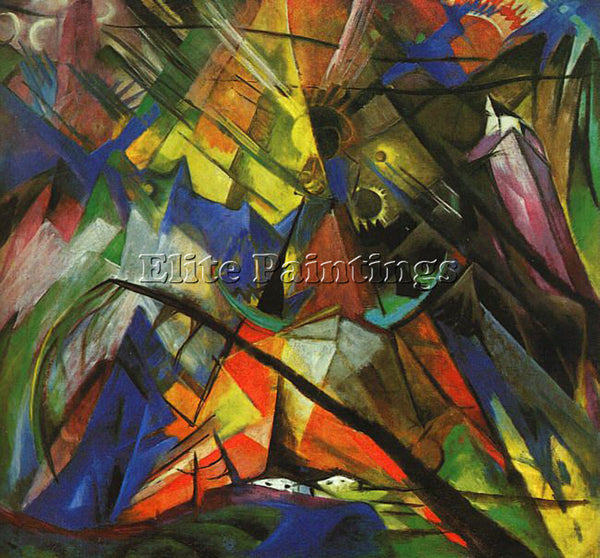 FRANZ MARC FMARC51 ARTIST PAINTING REPRODUCTION HANDMADE CANVAS REPRO WALL DECO