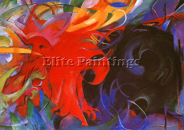 FRANZ MARC FMARC52 ARTIST PAINTING REPRODUCTION HANDMADE CANVAS REPRO WALL DECO