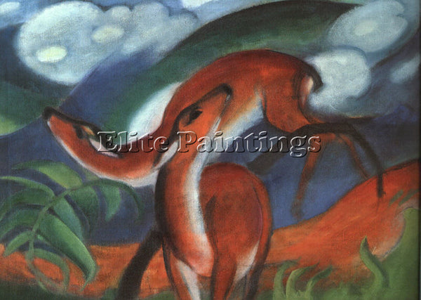 FRANZ MARC FMARC57 ARTIST PAINTING REPRODUCTION HANDMADE CANVAS REPRO WALL DECO