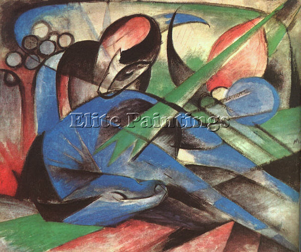 FRANZ MARC FMARC58 ARTIST PAINTING REPRODUCTION HANDMADE CANVAS REPRO WALL DECO