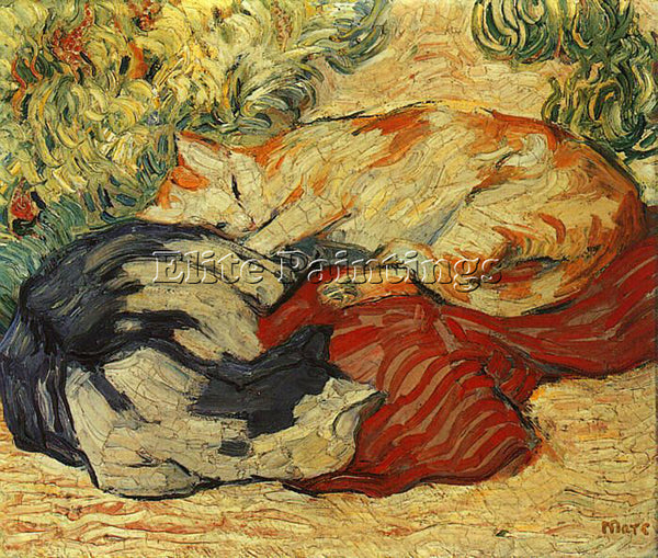 FRANZ MARC FMARC61 ARTIST PAINTING REPRODUCTION HANDMADE CANVAS REPRO WALL DECO