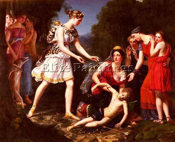 FRENCH FREMIET SOPHIE RUDE DEATH OF CENCHIRIAS ARTIST PAINTING REPRODUCTION OIL