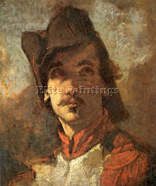 THOMAS COUTURE FRENCH VOLUNTEER STUDY FOR THE ENROLLMENT ARTIST PAINTING CANVAS