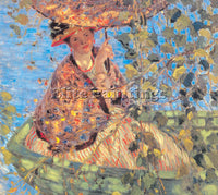 FREDERICK FRIESEKE THROUGH THE VINES ARTIST PAINTING REPRODUCTION HANDMADE OIL