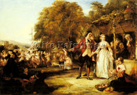 WILLIAM POWELL FRITH POWELL A MAY DAY CELEBRATION ARTIST PAINTING REPRODUCTION