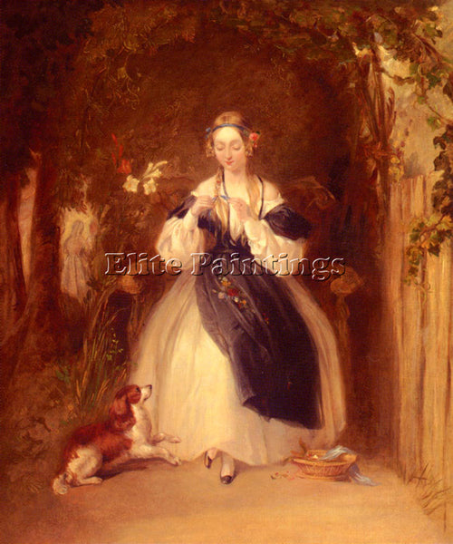 WILLIAM POWELL FRITH POWELL THE ARDOUR ARTIST PAINTING REPRODUCTION HANDMADE OIL