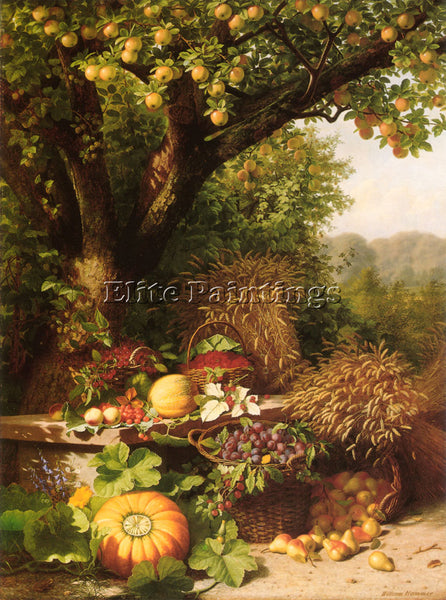 DENMARK FRUITS OF THE GARDEN AND FIELD ARTIST PAINTING REPRODUCTION HANDMADE OIL