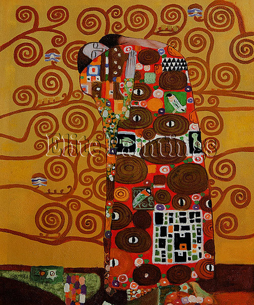 FAMOUS PAINTINGS FULFILLMENT KLIMT 20X24 ARTIST PAINTING REPRODUCTION HANDMADE