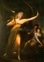 BRITISH FUSELI HENRY SWISS PRACTICED IN ENGLAND 1741 1825 2 ARTIST PAINTING OIL