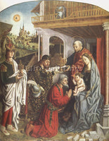 FERNANDO GALLEGO EPIPHANY ARTIST PAINTING REPRODUCTION HANDMADE OIL CANVAS REPRO