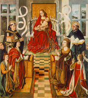 FERNANDO GALLEGO MADONNA OF THE CATHOLIC KINGS ARTIST PAINTING REPRODUCTION OIL