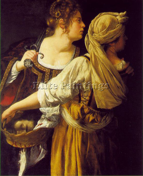 ARTEMISIA GENTILESCHI JUDITH AND HER MAIDSERVANT ARTIST PAINTING HANDMADE CANVAS
