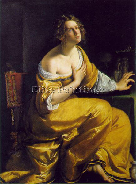 ARTEMISIA GENTILESCHI MARY MAGDALEN ARTIST PAINTING REPRODUCTION HANDMADE OIL