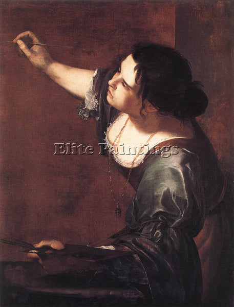 ARTEMISIA GENTILESCHI SELF PORTRAIT AS THE ALLEGORY OF PAINTING ARTIST PAINTING