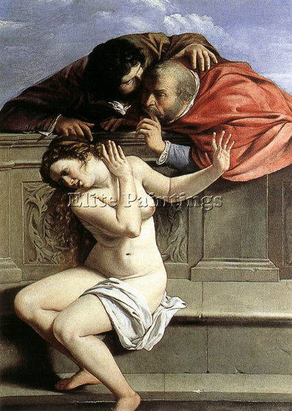 ARTEMISIA GENTILESCHI SUSANNA AND THE ELDERS ARTIST PAINTING HANDMADE OIL CANVAS