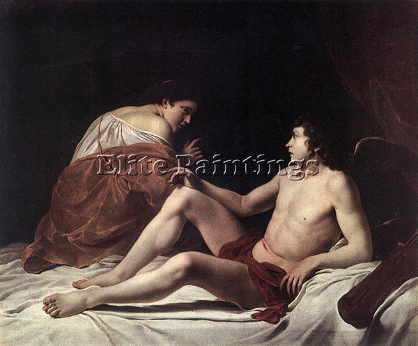 ORAZIO GENTLESCHI CUPID AND PSYCHE ARTIST PAINTING REPRODUCTION HANDMADE OIL ART