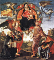 DOMENICO GHIRLANDAIO MADONNA IN GLORY WITH SAINTS ARTIST PAINTING REPRODUCTION