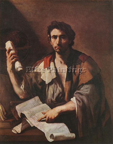 LUCA GIORDANO A CYNICAL PHILOSPHER ARTIST PAINTING REPRODUCTION HANDMADE OIL ART
