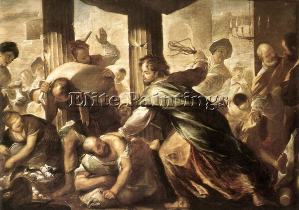 LUCA GIORDANO CHRIST CLEANSING THE TEMPLE ARTIST PAINTING REPRODUCTION HANDMADE