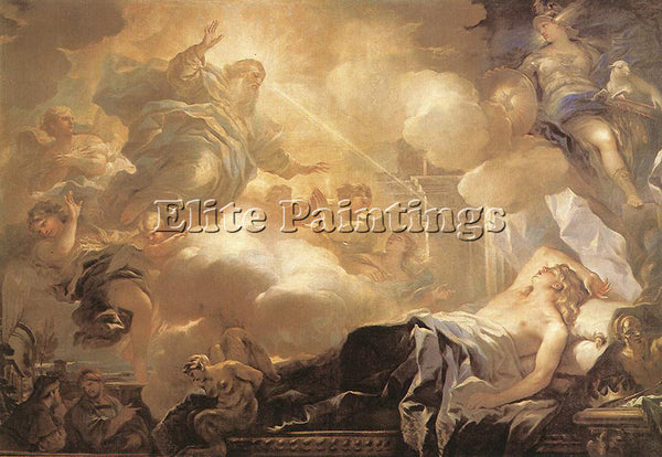 LUCA GIORDANO DREAM OF SOLOMON ARTIST PAINTING REPRODUCTION HANDMADE OIL CANVAS