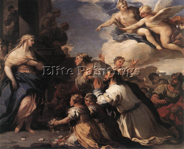 LUCA GIORDANO PSYCHE HONOURED BY THE PEOPLE ARTIST PAINTING HANDMADE OIL CANVAS