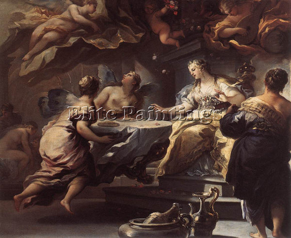 LUCA GIORDANO PSYCHE SERVED BY INVISIBLE SPIRITS ARTIST PAINTING HANDMADE CANVAS