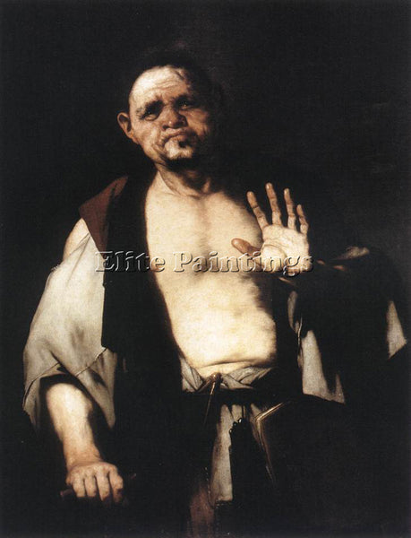 LUCA GIORDANO THE PHILOSOPHER CRATETES ARTIST PAINTING REPRODUCTION HANDMADE OIL